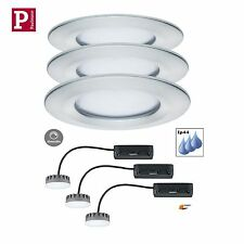 Paulmann EBL LED Coin Slim 3x6,8W Starr Dimmbar Alu Matt IP44 Satin 3cm 93901