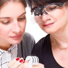 Lupenbrille mit Dual LED, 5 verschiedenen Objetiven, Vergrößerungsbrille
