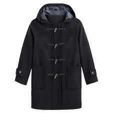 LA REDOUTE Wool Mix Navy Toggle Duffle Coat Size 22 Hooded Timeless New RRP £135