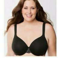 Details about  /Lane Bryant Cacique Womens Bra Boost Plunge Cotton Blend Plus Size 44H Black