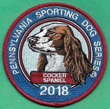 """Pa Game Fish Commission Pennsylvania Sporting Dogs 4"""" 2018 Cocker Spaniel Patch"""