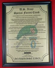Mc-Nice: Army Special Forces Creed All Groups Available Framed Personalized