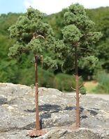 "NADEL Bäume Kiefer 2 STÜCK 16cm HÖHE passend zu 1:32 ""MADE in GERMANY""        5F"