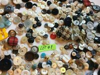 Vintage Variety Sewing Buttons Lot Variety Collection 100's SKU 066-084  #1