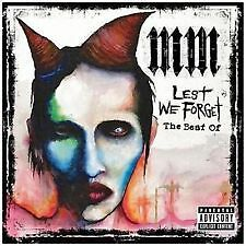 MARILYN MANSON Lest We Forget The Best Of CD BRAND NEW AND SEALED