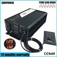 Pure Sine Wave Inverter 1500W(peak3000w) 12V/24V DC to AC 120V for home use