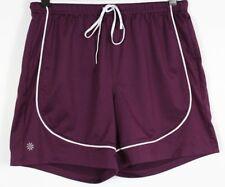 Athleta Take Two Shorts Womens S Purple White Mesh Lined Running Yoga Athletic