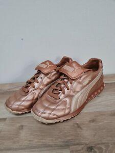 Puma AVANTI Ladies Leather Trainers UK 4 Rose Gold Rare