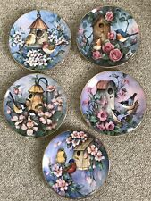 Royal Doulton Franklin Mint Set Of 5 Plate Lot Birds by Carolyn Shores Wright