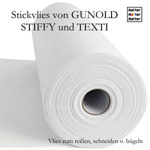 Stickvlies Reißvlies 100m Rolle STIFFY 25, 37, 50g/m², Breite 20, 30, 50cm