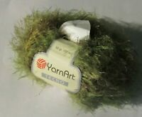 NEW YARNART TECNO Sage Green and Gray Eyelash Micro Fibre 50 g Ball Yarn Turkey