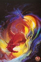 POSTER : FANTASY : WIZARD & DRAGON  - FREE SHIPPING #F3009986  LC31 J