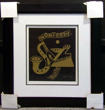 """Neal Doty """"Monterey Jazz 1""""with frame  Hand Signed Artwork MAKE AN OFFER"""