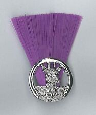 TANZANIA SCOUTS - Scout Commissioner (PURPLE COLOUR) Metal Plume / Hat Patch