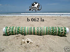 30 UNISEX MIX GREEN LEATHER SURF FRIENDSHIP BRACELETS WRISTBAND WHOLESALE/b062la