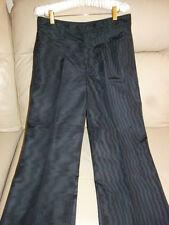 Chloé Chloe FRANCE RUNWAY Dark NOIR SILK Trouser Dress Pants LONG TALL LEG T38 6