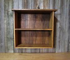 Wall Shelf White Oak Barn Wood Rustic Country Primitive Curio Display Cabinet