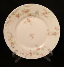 Theo. Haviland - Salad Plate - Marie - Pink Roses & Blue Bow - Sch. 118 & 161A