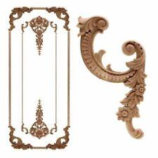 Vintage Corner Frame Unpainted Carved Wood Decal Applique Home & Furniture Decor