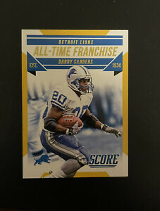 2015 Score Berry Sanders All-Time Franchise Gold Parallel Card #2