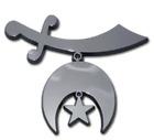 shriner chrome auto emblem decal usa made