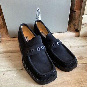 Vtg Patrick Cox Suede Shoes Black 90's Retro 37.5 UK 4.5