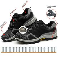 Mens Safety Shoes Steel Toe Work Boots Breathable Hiking Climbing Cosy Trainers