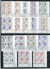 Berlin LUXUS Frauen Formnummer Eckrand Viererblock FN VB postfrisch komplett