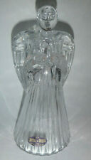 """DePlomb U.S.A. Lead Crystal Praying Angel Candle Stick Holder 7"""" Tall"""