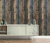 Weathered Wood Wallpaper Self Adhesive Home Room Decor Wall Sticker Waterproof