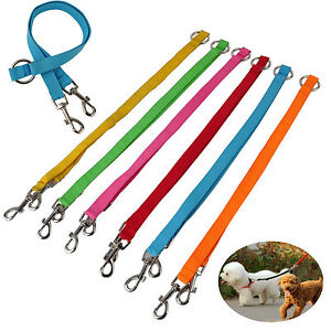 22: DLE 02  **COUPLER LEAD FOR WALKING 2 DOGS CHOICE OF COLOURS**