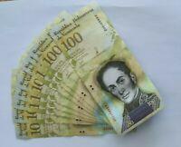 10xVenezuela 100000 Bolivares 2017 P-100b Banknotes UNC Fisrt Run Prefix A