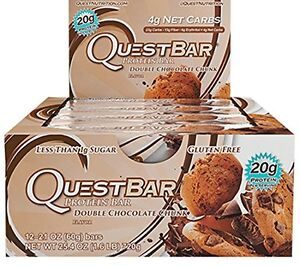 NEW Quest Nutrition Protein Bars Double Chocolate Chunk 12 Count FREE SHIPPING