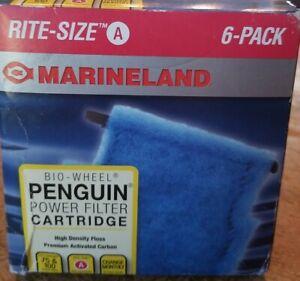 Marineland Rite Size A Cartridge Penguin Bio Wheel 100 Mini Power Filters 6 Pack