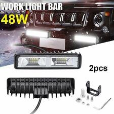 2X 48W LED Work Light Bar Flood Spot Lights Driving Lamp Offroad Car Truck SUV