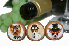Steam Punk Dog Wine Stoppers- Dog Lover Wine Stoppers- Party Favor Stopper