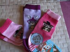 BRAND>NEW>3 PACK>GIRLS>PINK>WOODLAND>FRIENDS>SOCKS> UK SIZE 6-8