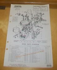 HILLMAN HUSKY  MARK I  ZENITH 30 VM-7 CARBURETTER SPARE PARTS TECHNICAL NOTES
