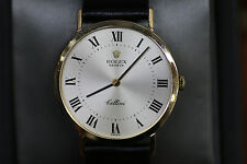 Rolex 18K Solid Yellow Gold Men's Wrist Watch 32mm Classic Cellini 4112