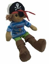 Personalised Handmade Rag Doll With 'Pirate' Design 40cm. Great Gift