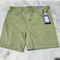 New Not Your Daughters Jean NYDJ Bermuda Shorts Olive Green LIFT TUCK Size 6