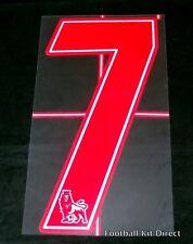 Premier League 2007/12 Red Lextra Senscilia Football Shirt Number 7