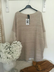 Neues Angebot♥ XUNA ♥ Pullover Oversize 38 40 42 44 Italy Mode Beige
