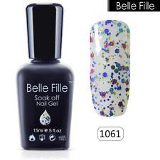 BELLE FILLE Collection Color Nail Gel UV/LED Soak Off Polish Professional 15ml