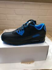 Nike Air Max 90 Black Blue Trainers UK Size 8.5 EU 43 US 9.5 Custom By You BNIB