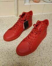 Zara Unisex New Red High Tops Size UK 8 RRP £40.