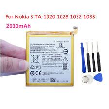 For Nokia 3 TA-1020 1028 1032 1038 2630mAh HE319 Original Internal Battery Tools