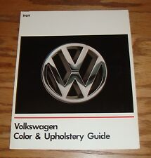 Original 1989 Volkswagen VW Color & Upholstery Guide Brochure 89 Vanagon Jetta