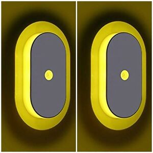 2 Pk. Motion Activated Sensor Night Light Automatic Stair,Bedroom-Yellow Light