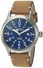 "Timex TW4B01800, Men's ""Expedition"" Brown Leather Watch, Scout, Indiglo, Date"